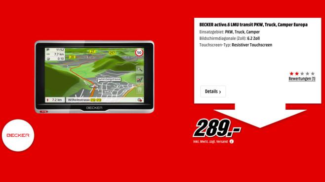 Becker Active.6 LMU Transit PKW, Truck, Camper ©Media Markt