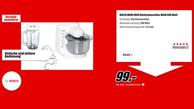 Bosch MUM 4409 ©Media Markt