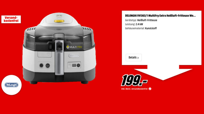 Delonghi FH1363/1 MultiFry Extra © Media Markt