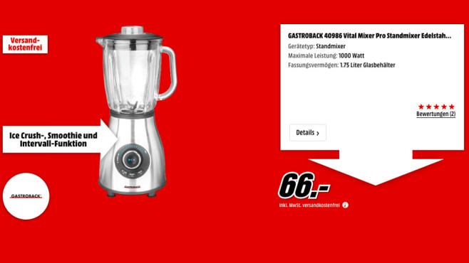 Gastroback 40986 Vital Mixer Pro ©Media Markt