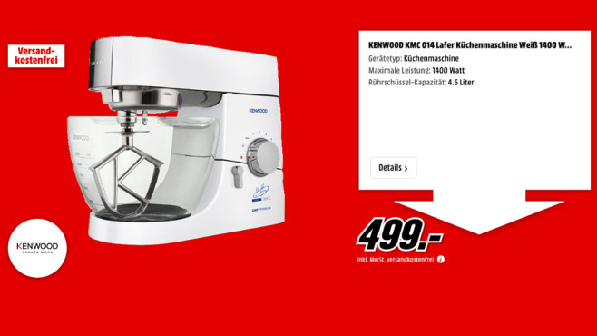 Kenwood KMC 014 Lafer © Media Markt