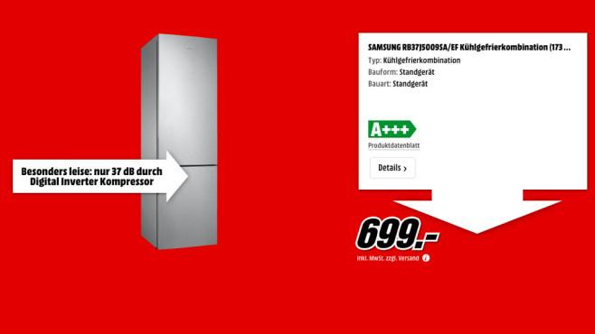 Samsung RB37J5009SA/EF ©Media Markt