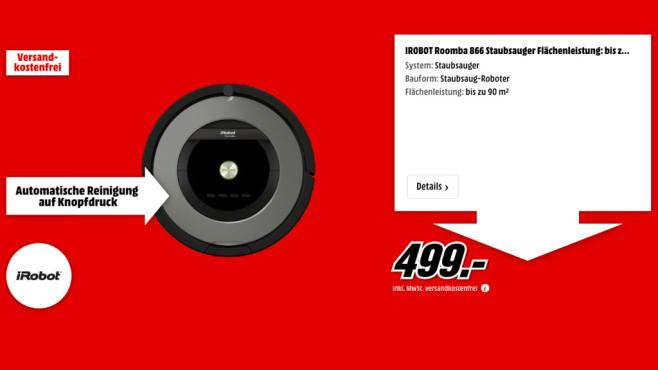 iRobot Roomba 866 ©Media Markt