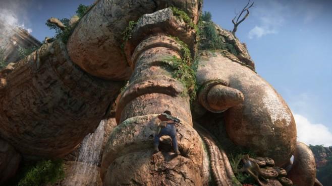 Uncharted – The Lost Legacy angespielt: Wenn Frauen hauen Die Kletterpassagen laufen wie gewohnt flott – und führen nicht selten in atemberaubende Höhen. ©Sony
