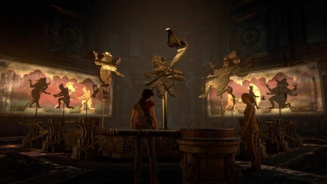 """Uncharted – The Lost Legacy angespielt: Wenn Frauen hauen Wer Tempel mag, wird sich in """"The Lost Legacy"""" gleich verlieben. Hier sehen Sie eine knifflige Rätselkammer, in der Schatten richtig platziert werden müssen. ©Sony"""