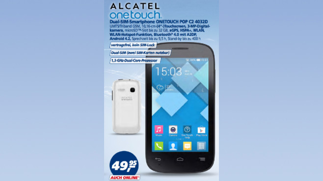 Alcatel OneTouch Pop C2 4032D © Real