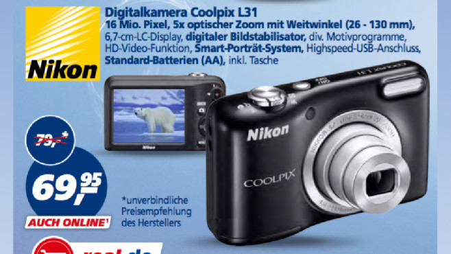 Nikon Coolpix L31 © Real
