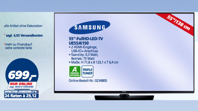 Samsung UE55J6150 ©Real