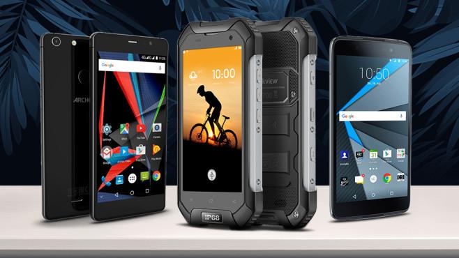 Die beliebtesten Smartphone-Exoten bei Amazon ©Archos, Blackview Diamond, BlackBerry, Ms.Moloko – Fotolia.com