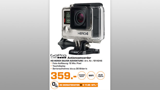 GoPro HD Hero 4 Silver Adventure © Saturn