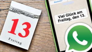 WhatsApp-Spr�che zum Freitag, den 13. ©WhatsApp, Marco2811 � Fotolia.com