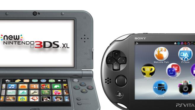 Nintendo 3DS, PlayStation VIta ©Nintendo, Sony