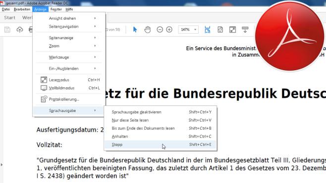 Text vorlesen lassen ©Adobe, Montage: COMPUTER BILD