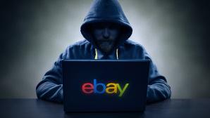 Mann vor Notebook mit Ebay-Logo ©eBay, Mikko Lemola � Fotolia.com