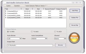 Screenshot 1 - AoA Audio Extractor