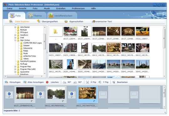 Screenshot 1 - AnvSoft Photo Slideshow Maker