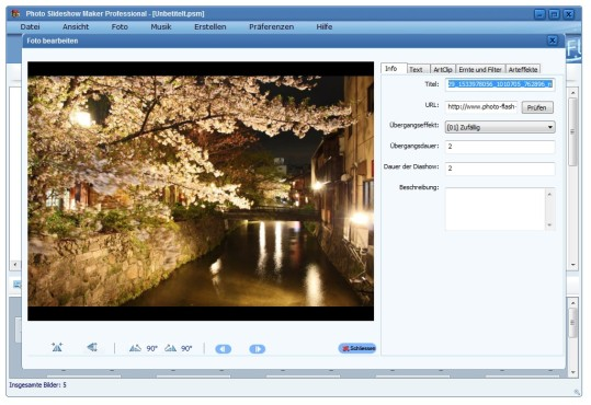 Screenshot 2 - AnvSoft Photo Slideshow Maker