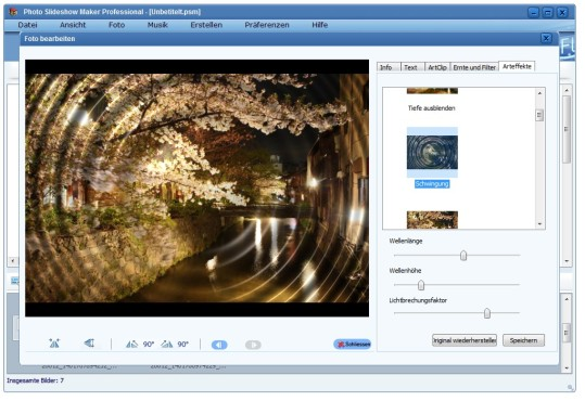 Screenshot 3 - AnvSoft Photo Slideshow Maker