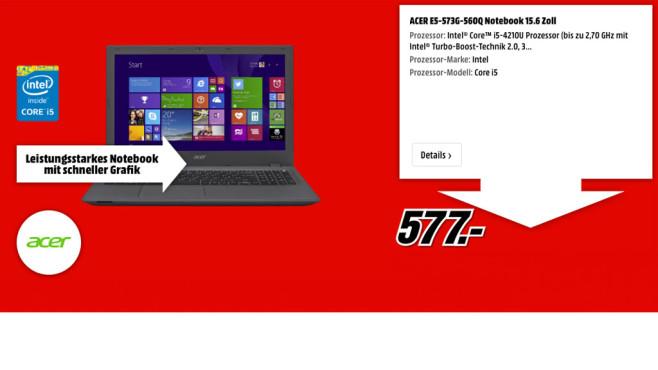 Acer E5-573G-560Q ©Acer