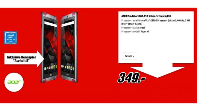 Acer Predator 8 GT-810 ©Acer