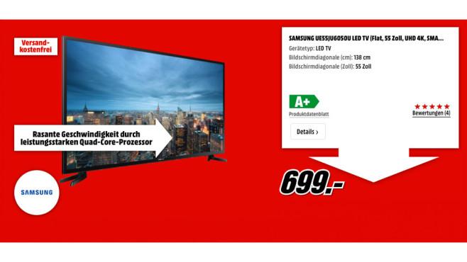 Samsung UE55JU6050U ©Samsung
