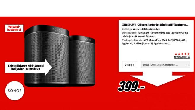 Sonos Play: 1-2 Raum-Starter-Set ©Sonos