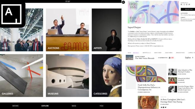 Artsy – Die Kunstwelt in Ihrer Tasche ©Art.sy Inc.