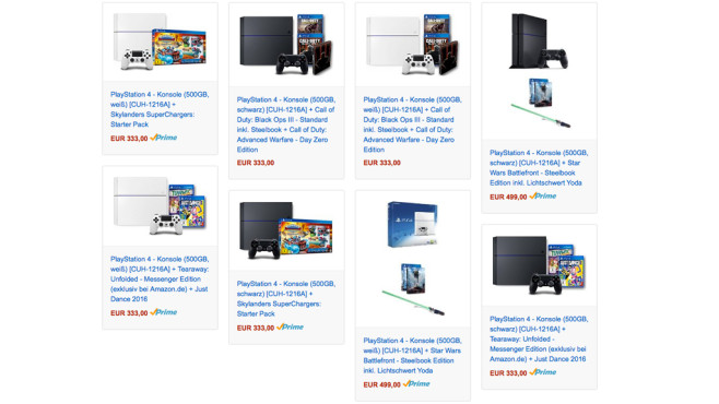 Sony PS4-Bundles © Sony
