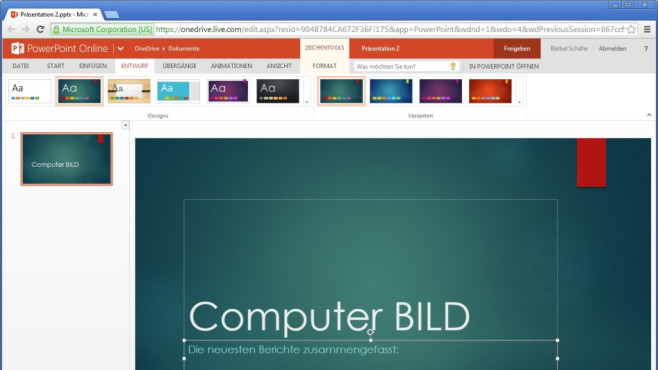 Platz 21: Microsoft PowerPoint Online (neu) ©COMPUTER BILD