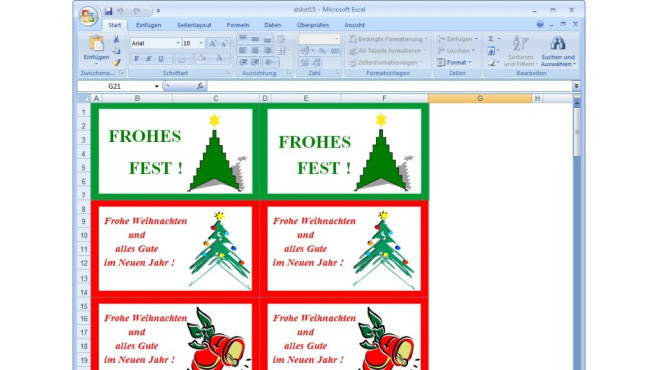 Weihnachts-Vorbereitungen: Franzis-Paket mit Grußkarten ©COMPUTER BILD