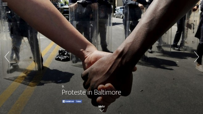 9. Proteste in Baltimore © Facebook / Screenshot