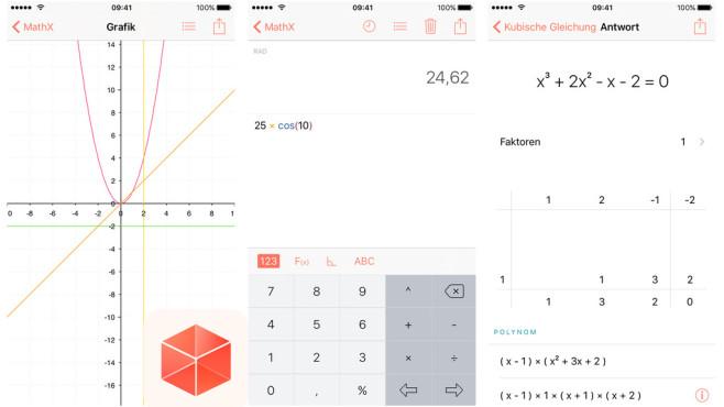 MathX – Wissenschaftlicher Grafikrechner ©Bunuël Cubo Soto