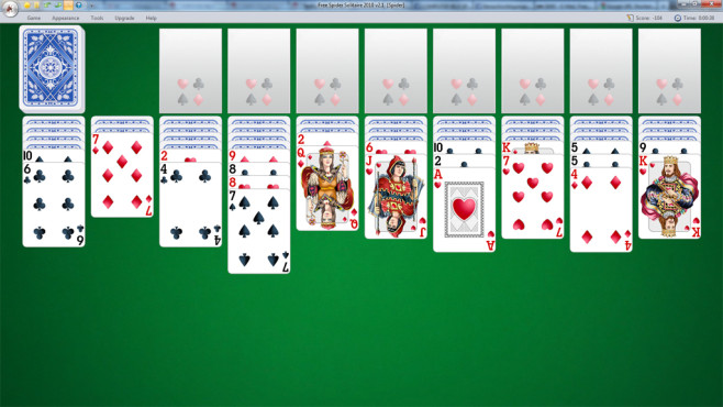 Free Spider Solitaire 2010 © TreeCardGames