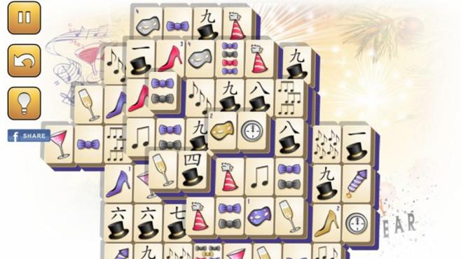 Neujahrs-Mahjong: Legespiel mit passenden Zeichen ©COMPUTER BILD