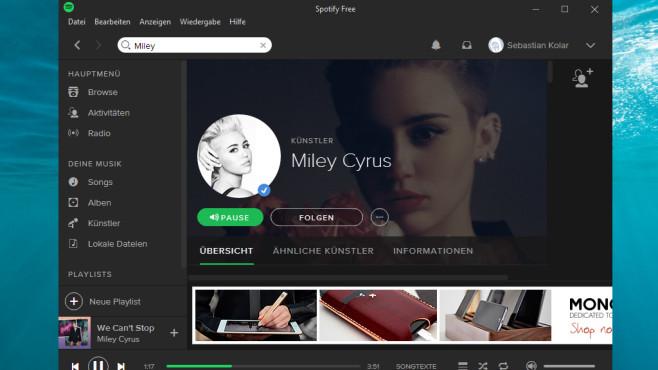 Spotify: Beschallung mit neuen Songs ©COMPUTER BILD