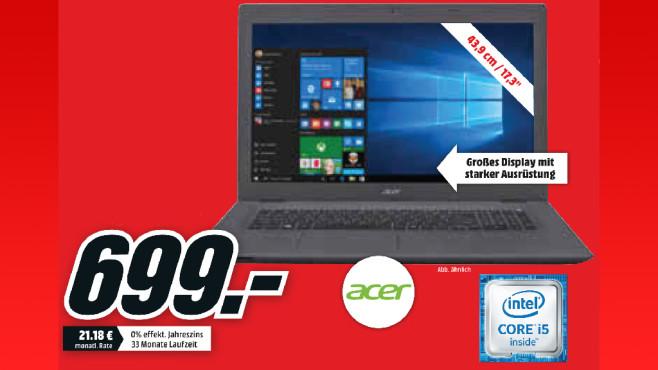 Acer Aspire E 17 (E5-773G-56B1) ©Media Markt