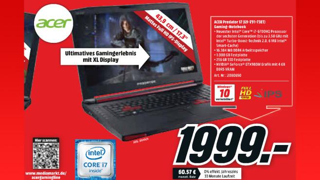 Acer Predator 17 (G9-791-73ET) ©Media Markt