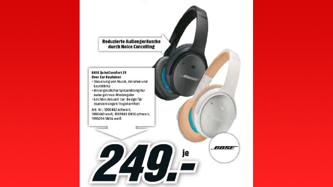 Bose QuietComfort 25 © Media Markt