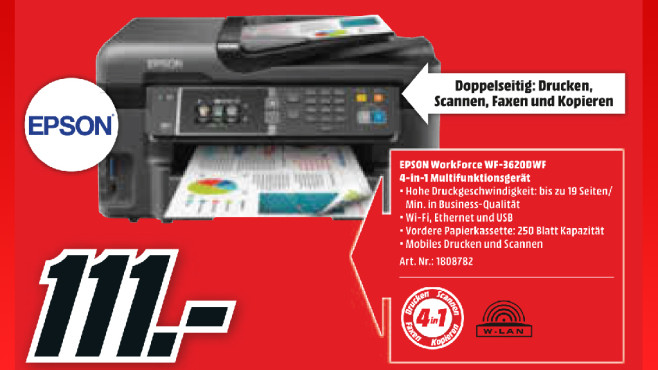 Epson WorkForce WF-3620DWF © Media Markt
