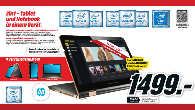 Hewlett-Packard HP Spectre x360 13-4132ng © Media Markt