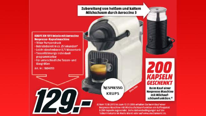 Krups Nespresso Inissia & Milk XN1011 ©Media Markt
