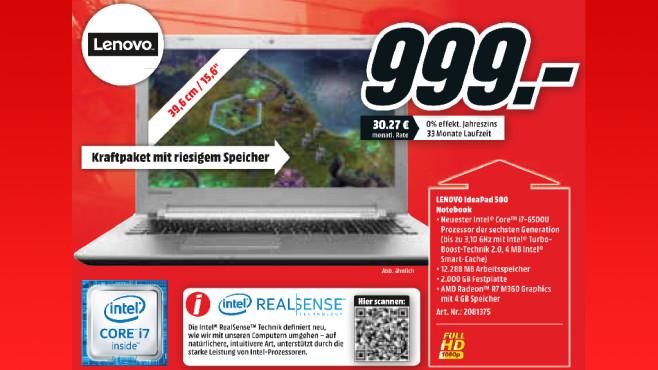 Lenovo IdeaPad 500 ©Media Markt