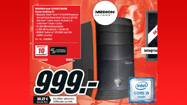 Medion Erazer i52000/C060DE ©Media Markt