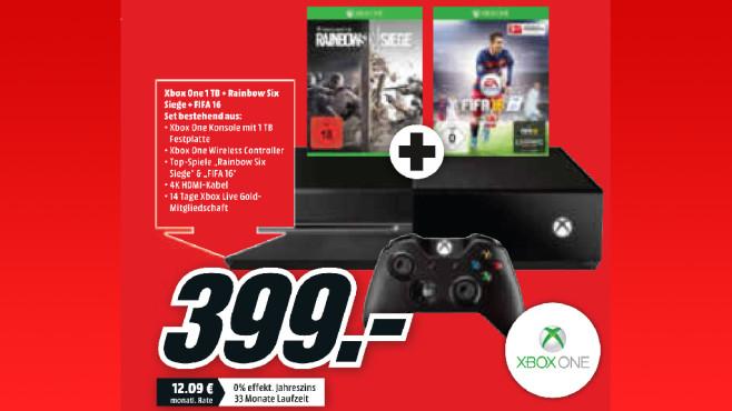 Microsoft Xbox One mit zwei Spielen ©Media Markt
