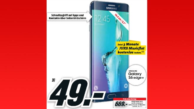 Samsung Galaxy S6 Edge+ © Media Markt