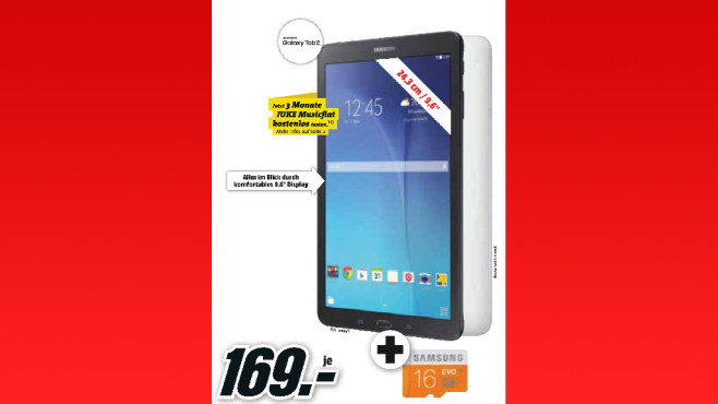 Samsung Galaxy Tab E 9.6 8GB WiFi © Media Markt