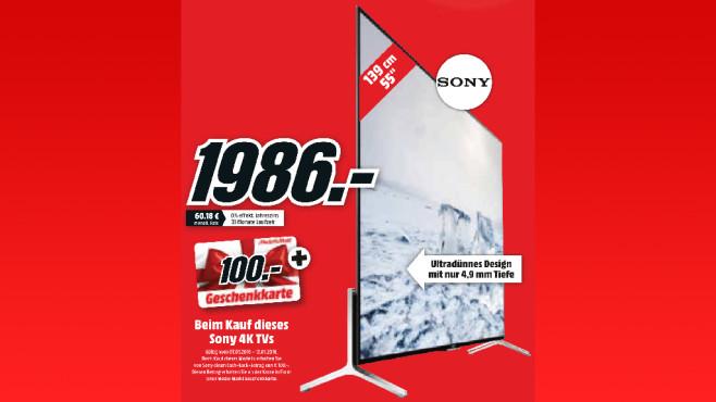 Sony KD-55X9005C ©Media Markt