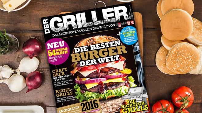 DER GRILLER: Die neue Ausgabe ist da! ©COMPUTER BILD/Manuel Sulzer/gettyimages