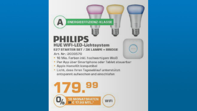 Philips' Hue Starter-Set © Saturn