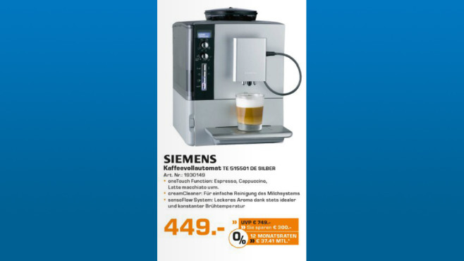 Siemens EQ.5 macchiatoPlus TE515501DE ©Saturn
